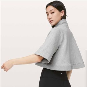 Lululemon Know Your Angles Poncho grey sweater